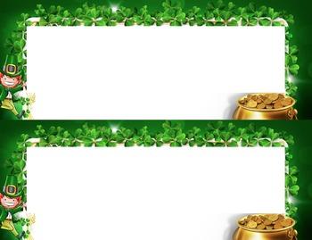 Leprechaun Pot Of Gold Desk Name Tag Plates Set