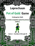 Leprechaun Pot of Gold Game 1 Kindergarten Math
