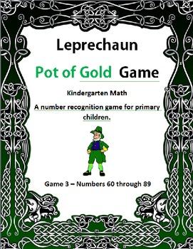 Leprechaun Pot of Gold Game 3 Kindergarten Math