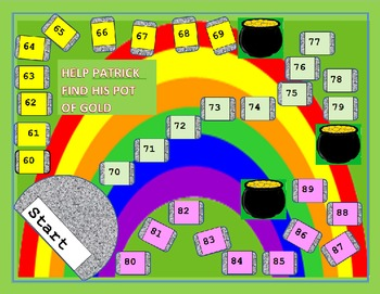 Leprechaun Pot of Gold Game 3 Kindergarten Math