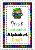 Leprechaun Pre-K Alphabet Cards