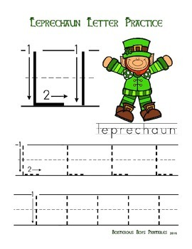 Leprechaun PreK Printable Learning Pack Part 1