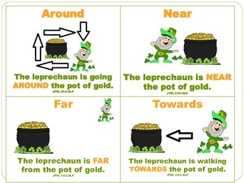 Leprechaun Prepositions Flashcards