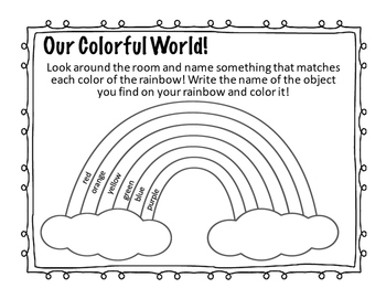 Leprechaun Prepositions and Identifying Colors of the Rainbow