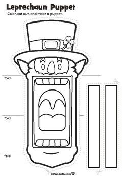 Leprechaun Puppet Craft for St. Patrick's Day