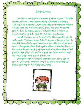Leprechaun Reading Comprehension Passage