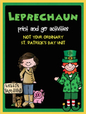 Leprechaun Reading and Math Print and Go Activities and a