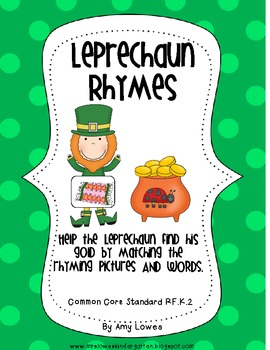 Leprechaun Rhymes Literacy Center