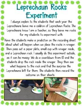 Leprechaun Rocks Science Experiment- Freebie!