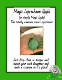 Leprechaun Rocks Science Experiment or Magic Rock Science Experiment