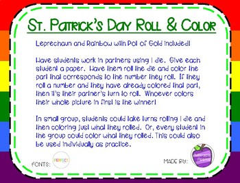 St. Patrick's Day Roll and Color