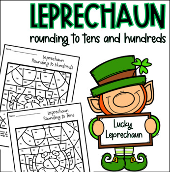 Leprechaun Rounding Color by Number