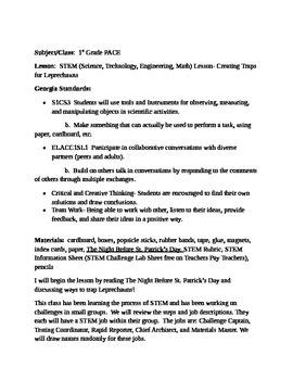 Leprechaun STEM project