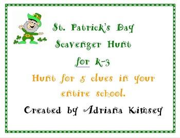 Leprechaun Scavenger Hunt for St. Patrick's Day