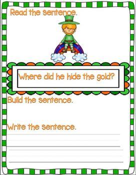 Leprechaun Sentence Scrambles