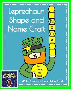 Saint Patrick's Day Craft: Leprechaun Shape and Name