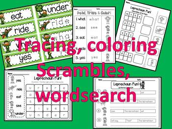 Leprechaun Sight Word Fun-St. Patrick's Day