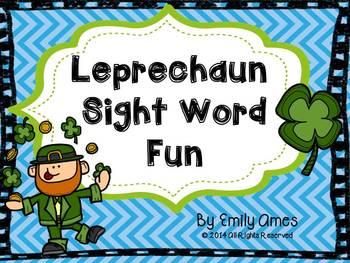 Leprechaun Sight Word Fun-St. Patrick's Day