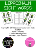 March Leprechaun Sight Word game
