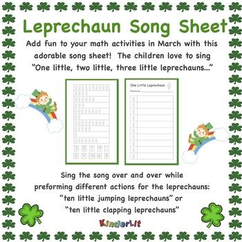 Leprechaun Math - Counting Sets Song Sheet