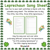 Leprechaun Math - Counting Sets Song Sheet