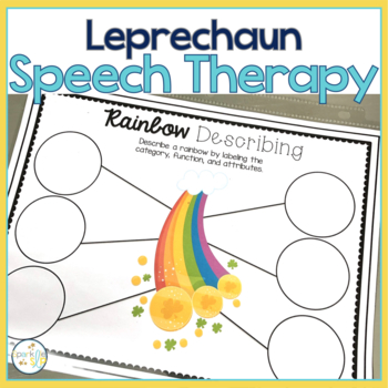 Leprechaun Speech and Language Themed Therapy Unit