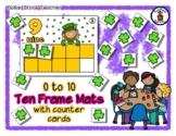 Leprechaun - St. Patrick - Ten Frame Mats 0 to 10 & Counter Cards