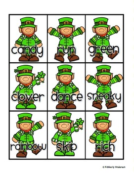 Leprechaun - St. Patrick's Day: Nouns / Verbs / Adjectives Sort