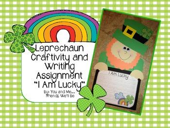 Leprechaun St. Patrick's Day Craftivity: I Am Lucky