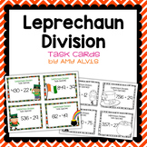 Division Task Cards St Patrick's Day