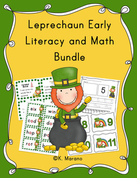 Leprechaun St. Patrick's Day Early Literacy and Math Bundle