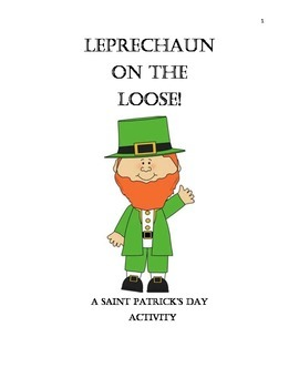 Leprechaun St. Patrick's day NO PREP activity. Language arts