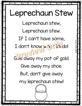 Leprechaun Stew - St. Patrick's Day Poem for Kids