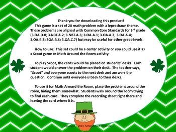 Leprechaun Story Problems