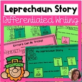 Leprechaun Differentiated Writing Activity for Special Ed
