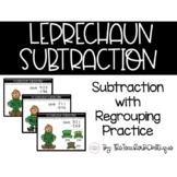 Leprechaun Subtraction: 3 Digit Subtraction with Regroupin
