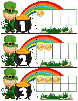 Leprechaun Ten Frame Matching Activity