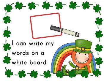 Leprechaun Themed Literacy Center Word Work Task Cards