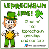 Leprechaun Time-March Literacy and Math Activities