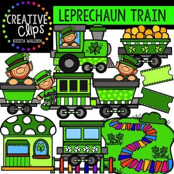 Leprechaun Train {Creative Clips Digital Clipart}
