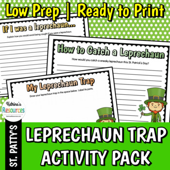 Leprechaun Trap Activity Pack for Elementary Writing