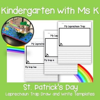 St. Patrick's Day Leprechaun Draw and Write Templates