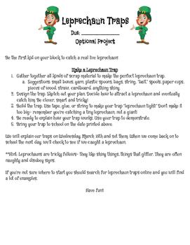 Leprechaun Trap Explanation Letter