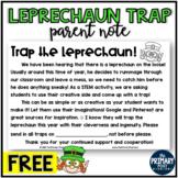 FREE Leprechaun Trap Note