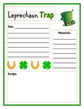 Leprechaun Trap STEM Engineering Design Planning Sheet