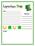 Leprechaun Trap STEM Engineering Design Planning Sheet