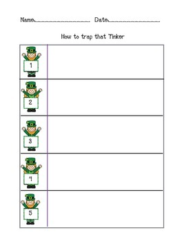 Leprechaun Trap STEM and Expository Writing Craftivity