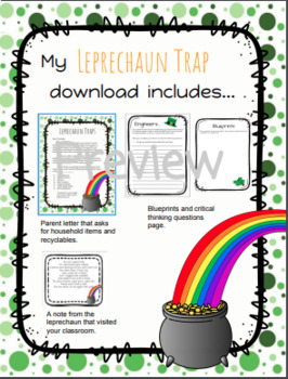 Leprechaun Trap Stem Project