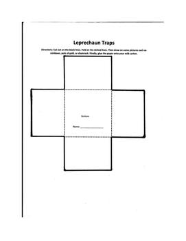Leprechaun Trap with a Template (using Milk Cartons)