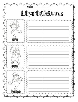 Leprechaun Unit for Literacy and Writing